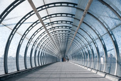 Pedestrian Footbridge At DLR Train Station In London Stock Photography