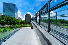 Pedestrian Footbridge Royalty Free Stock Images