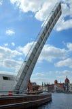 Pedestrian footbridge at Motlawa, Gdansk Royalty Free Stock Photo