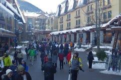 Pedestrian friendly Whistler Village Royalty Free Stock Photos