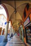 Pedestrian gallery in a center of Bologna Stock Photo
