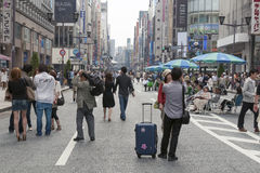 Pedestrian Ginza Royalty Free Stock Image