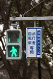 Pedestrian Go Signal of japan Royalty Free Stock Photos