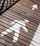 Pedestrian lane sign Royalty Free Stock Photos