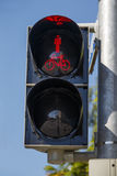 Pedestrian light on red, 2015 Stock Images