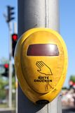Pedestrian lights. Push button of German pedestrian lights Stock Images
