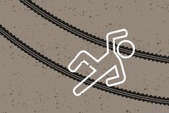 Pedestrian lilled by car Stock Image