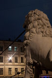 Pedestrian Lion bridge, Russia Royalty Free Stock Photos