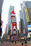 Pedestrian Mall in Times Square New York. Times Square in New York City has slowly been transforming into a pedestrian mall, as seen in this early morning Stock Photos