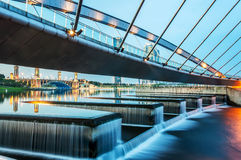 Pedestrian Modern Bridge, Putrajaya Royalty Free Stock Photos