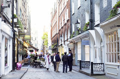 Pedestrian Neighborhood Street, London, England Royalty Free Stock Photography