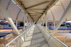 Pedestrian overpass in Abu Dhabi Royalty Free Stock Photo