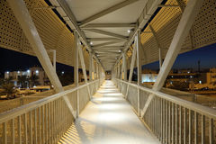 Pedestrian overpass in Abu Dhabi Stock Photography