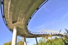 Pedestrian  overpass bottom view Royalty Free Stock Photography