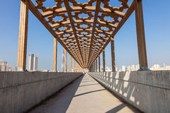 Pedestrian overpass in Kuwait Stock Images