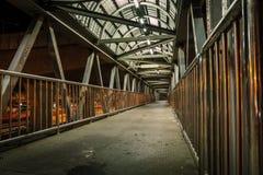 Pedestrian overpass. Stock Photos