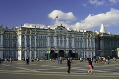 Pedestrian Palace Square in front of Hermitage museum Stock Image