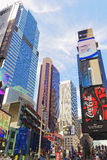 Pedestrian part of Broadway and 7th Avenue on Times Square Royalty Free Stock Image