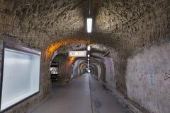 Pedestrian part of Siegmundstor or Neutor Tunnel in Salzburg, Austria. stock photos