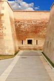 Pedestrian path on alba iulia fortress Stock Photography