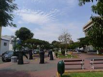 Pedestrian pathway in Barranco avenue, Lima Stock Photo