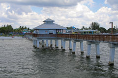 Free Pedestrian Pier At Fort Myers Beach Florida Royalty Free Stock Photos - 80843968