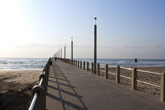 Pedestrian Pier Leading into Sea at Durban, South  Stock Photography