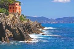 Genova-Nervi, Italy - passeggiata Anita Garibaldi Stock Images
