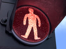 Pedestrian Red Light Royalty Free Stock Images