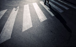 Pedestrian road crossing Royalty Free Stock Images
