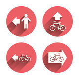 Pedestrian road icon. Bicycle path trail sign Stock Image
