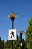 Pedestrian road sign Stock Image