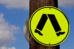 Pedestrian road sign and symbol Royalty Free Stock Photography