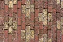 Cross Shaped Bricks Floor stock images