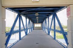 Pedestrian safe overpass in train station, FL Stock Photography