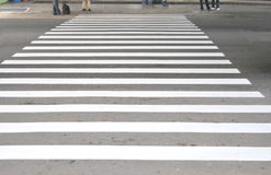 Pedestrian safety line Royalty Free Stock Image