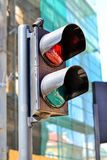 Pedestrian Semaphore Shines Red. Traffic Light Royalty Free Stock Photography