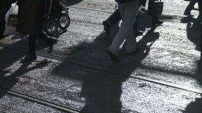 Pedestrian Shadows Stock Image