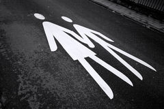 Pedestrian Sign stock photos