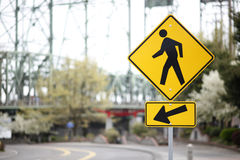 Pedestrian sign Royalty Free Stock Photography