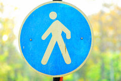 Pedestrian sign Royalty Free Stock Image