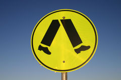 Pedestrian sign Stock Image