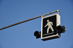 Pedestrian sign. There is a pedestrian sign Stock Images