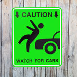 Pedestrian sign Stock Photography