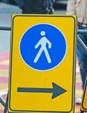 Pedestrian sign Royalty Free Stock Photo