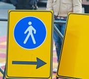 Pedestrian sign Royalty Free Stock Photos