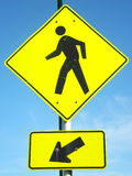 Pedestrian Sign Stock Photo