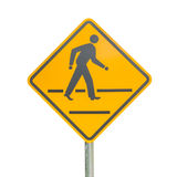 Pedestrian sign isolated Stock Photo