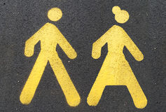 Pedestrian sign Royalty Free Stock Images