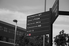 Pedestrian sign in Telford,  Shropshire Stock Images